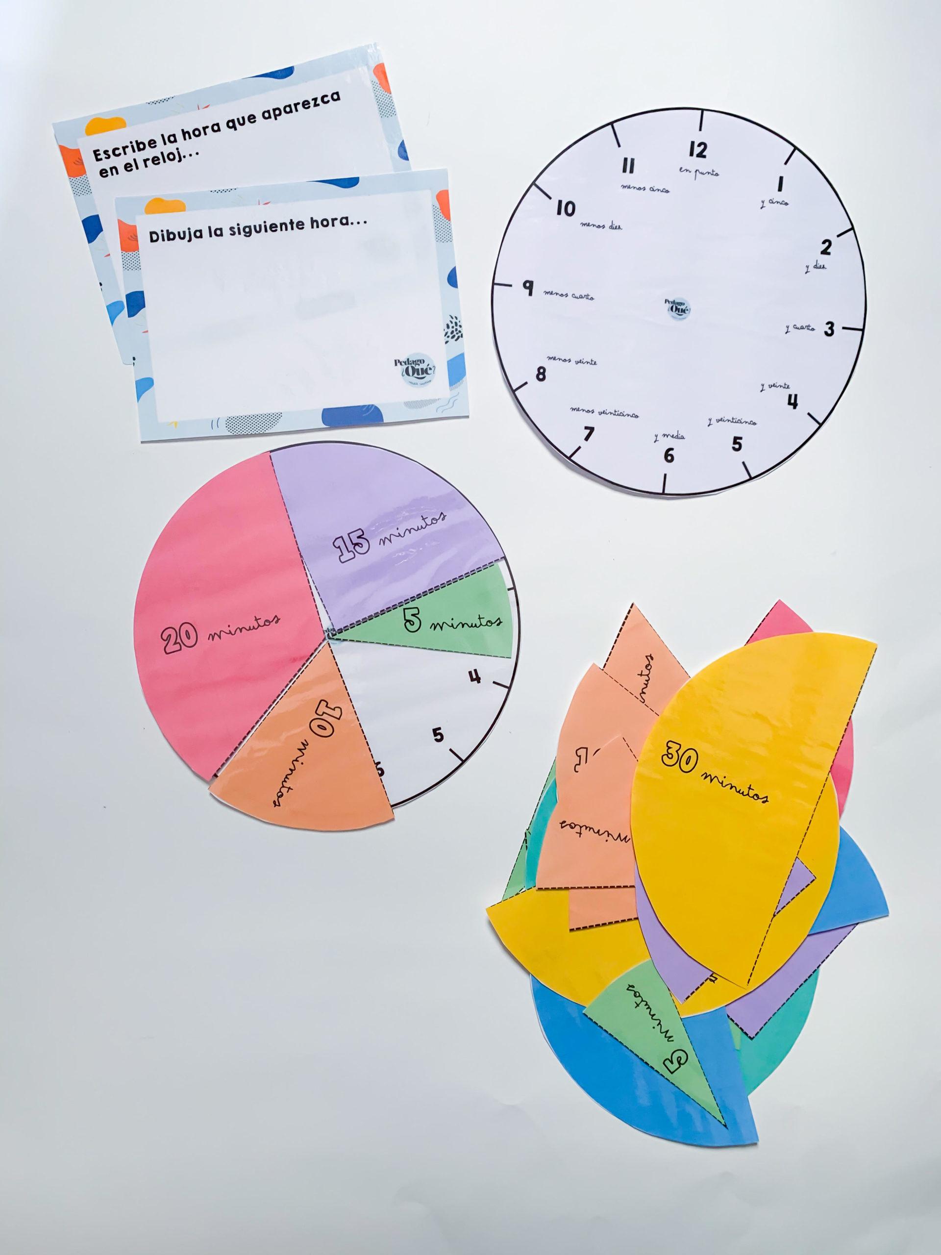 Material tiempo y horas